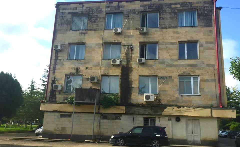 დღის ფოტო: ხობის მერიის შენობაში ლეღვის ხე ხარობს
